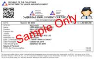 overseas employment certificate